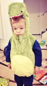 H dinosaur costume