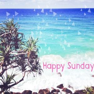 Happy Sunday ocean background