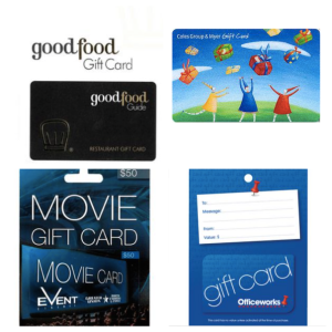 Gift cards - teacher